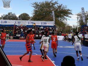 Jr NBA girls finals at Royal Bafokeng stadium
